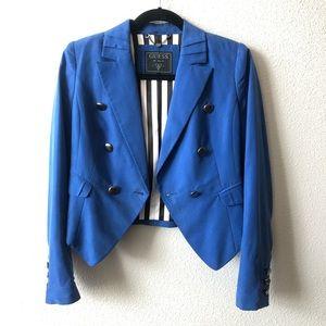 Guess Electric Blue Blazer Sz 2 ✨⚡️